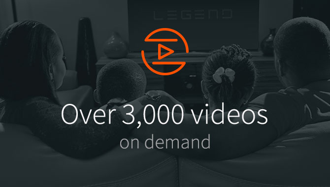 Over 3000 movies at your fingertips